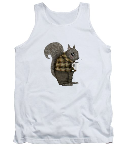 Early Morning For Mister Squirrel Tank Top by Little Bunny Sunshine