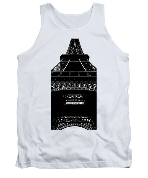 Eiffel Tower Paris Graphic Phone Case Tank Top by Edward Fielding