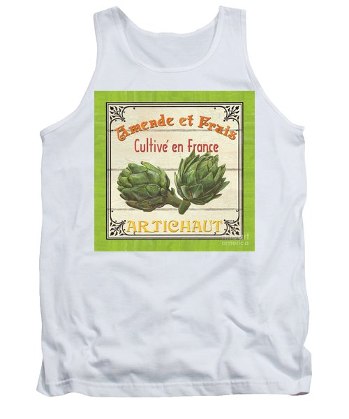 French Vegetable Sign 2 Tank Top by Debbie DeWitt