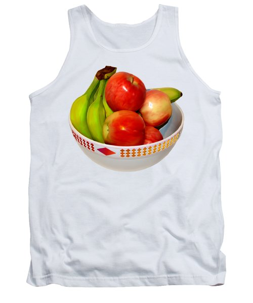 Fruit Bowl Still Life Tank Top by William Galloway