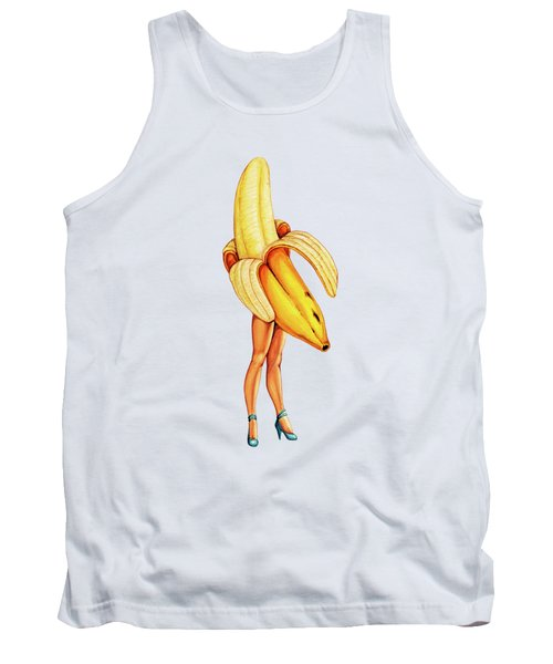 Fruit Stand - Banana Tank Top by Kelly Gilleran