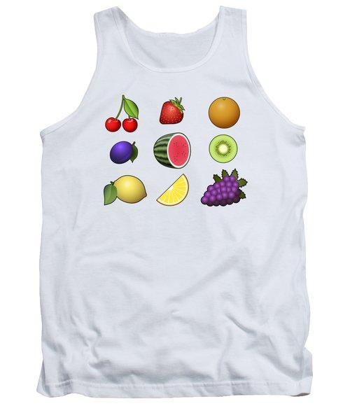 Fruits Collection Tank Top by Miroslav Nemecek