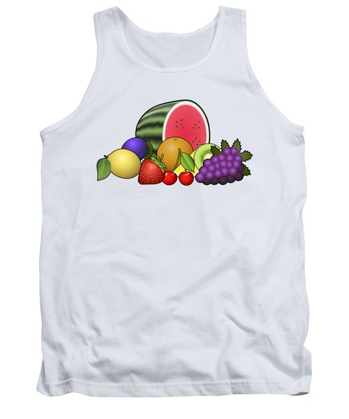 Fruits Heap Tank Top by Miroslav Nemecek