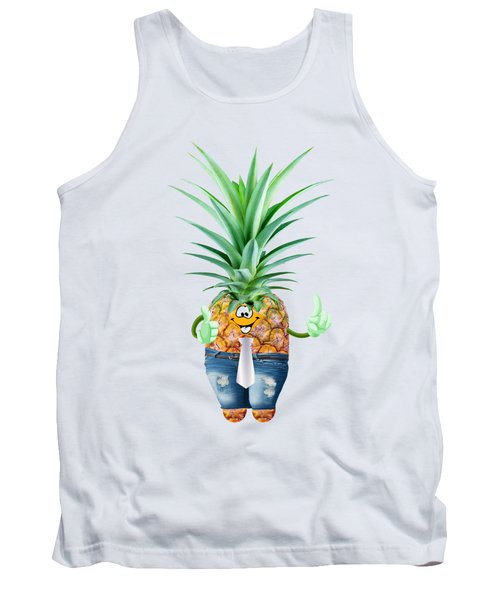 Fun Pineapple  Tank Top by Elena Nikolaeva