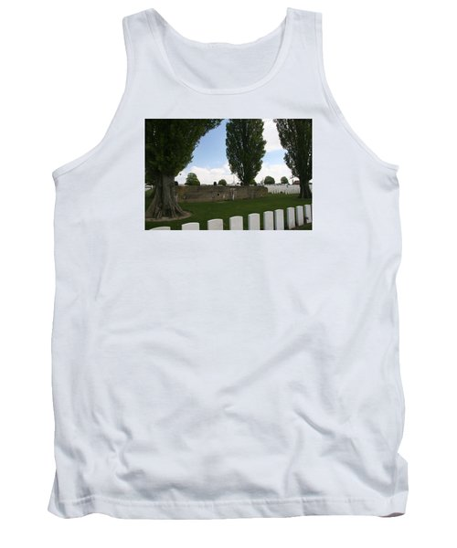 Tank Top featuring the photograph German Bunker At Tyne Cot Cemetery by Travel Pics
