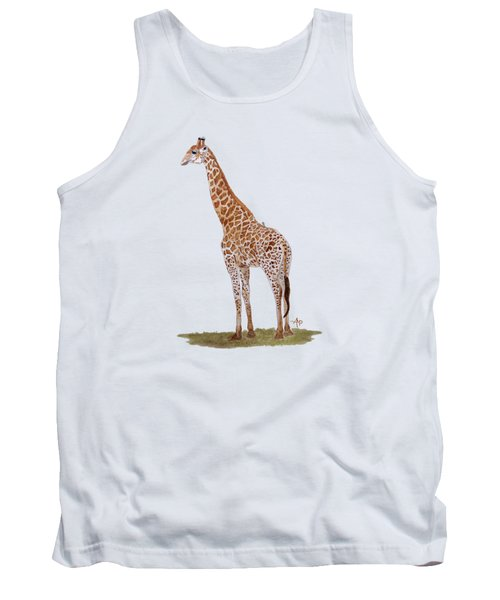 Giraffe Tank Top by Angeles M Pomata