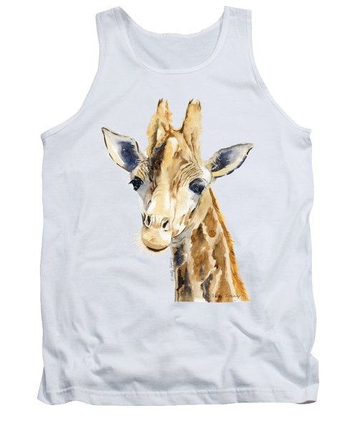Giraffe Watercolor Tank Top by Melly Terpening