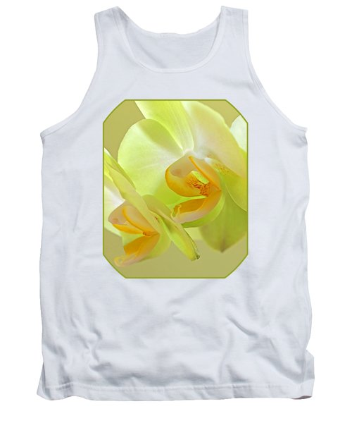 Glowing Orchid - Lemon And Lime Tank Top by Gill Billington