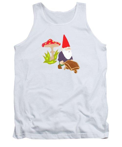 Gnome Garden Tank Top by Priscilla Wolfe