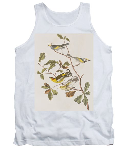 Golden Winged Warbler Or Cape May Warbler Tank Top by John James Audubon