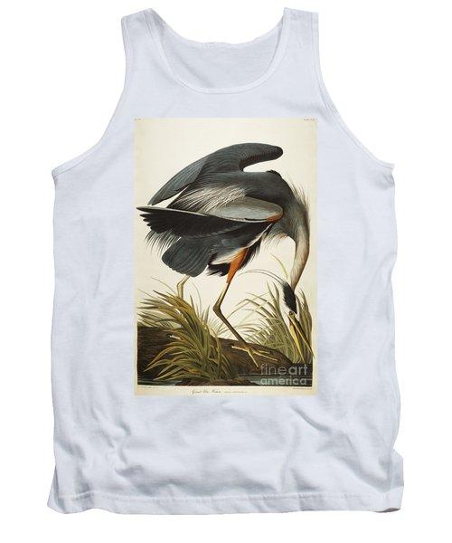 Great Blue Heron Tank Top by John James Audubon