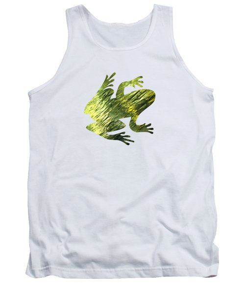 Green Abstract Water Reflection Tank Top by Christina Rollo