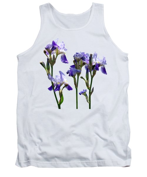 Group Of Purple Irises Tank Top by Susan Savad
