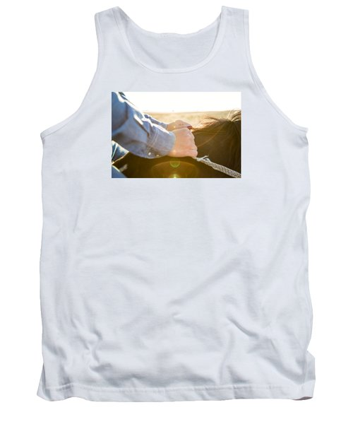 Hands On The Reins Tank Top by Todd Klassy