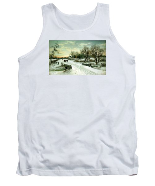 Tank Top featuring the painting Happy Holidays by Travel Pics