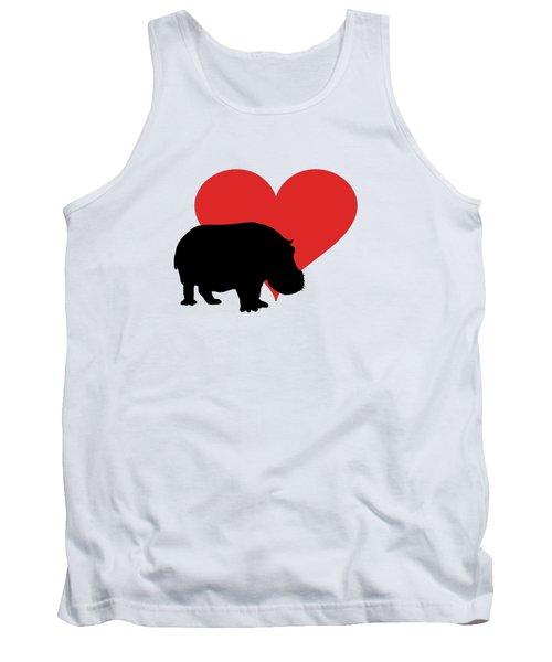 Hippopotamus Tank Top by Mordax Furittus