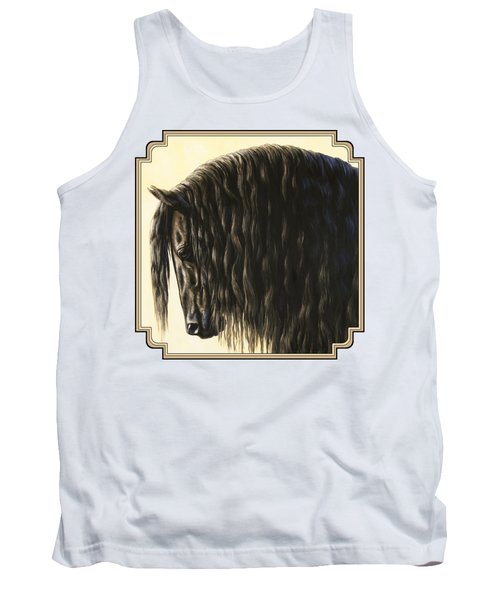 Horse Painting - Friesland Nobility Tank Top by Crista Forest
