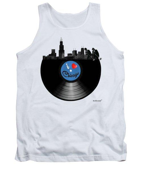 I Love Chicago Tank Top by Glenn Holbrook