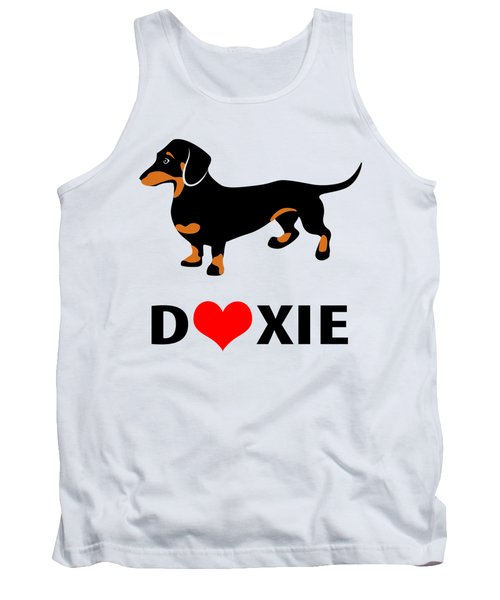 I Love My Doxie Tank Top by Antique Images