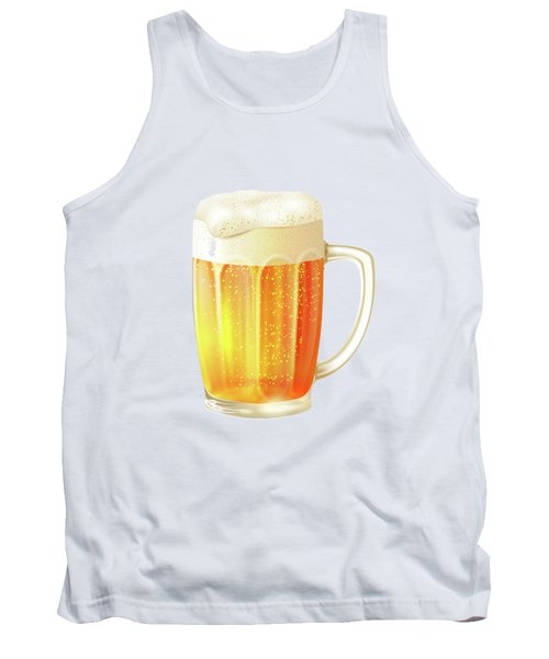 Ice Cold Beer Pattern Tank Top by Little Bunny Sunshine