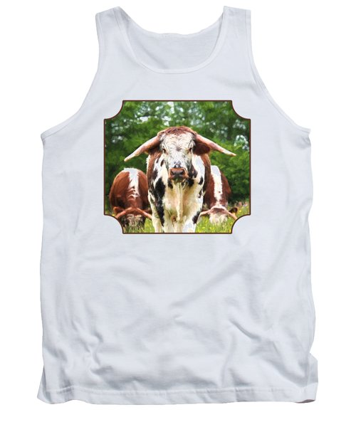 I'm In Charge Here Tank Top by Gill Billington