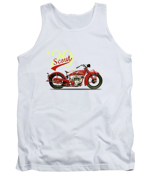 Indian Scout 101 1929 Tank Top by Mark Rogan