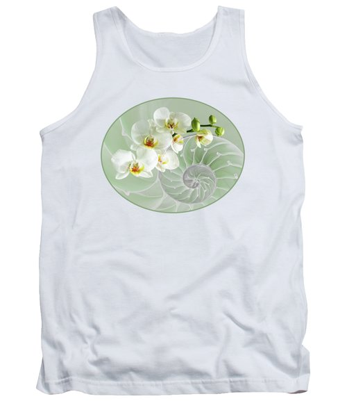 Intimate Fusion In Cool Green Tank Top by Gill Billington