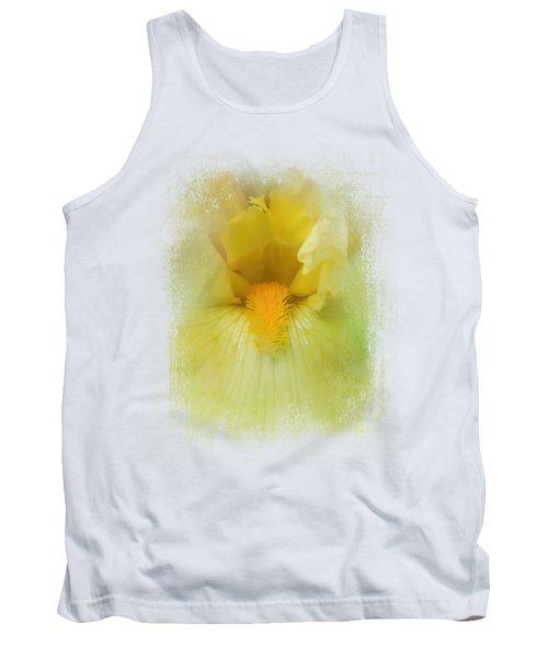 Iris In Lime Tank Top by Jai Johnson