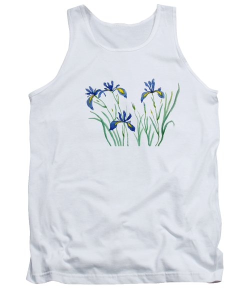 Iris In Japanese Style Tank Top by Color Color