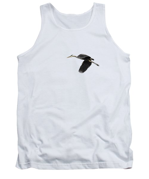 Isolated Great Blue Heron 2015-1 Tank Top by Thomas Young