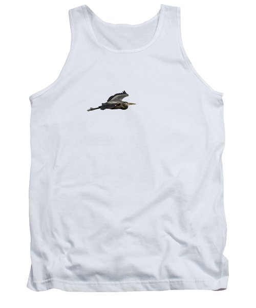 Isolated Great Blue Heron 2015-2 Tank Top by Thomas Young