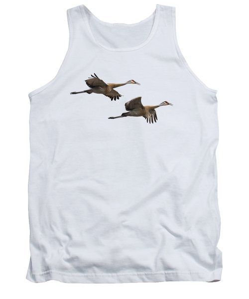 Isolated Sandhill Cranes 2016-1 Tank Top by Thomas Young