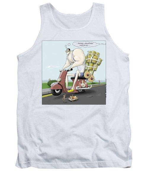 Jim's Shopping Trip Tank Top by Kris Burton-Shea