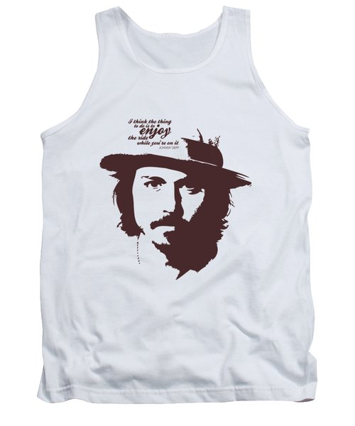 Johnny Depp Minimalist Poster Tank Top by Lab No 4 - The Quotography Department