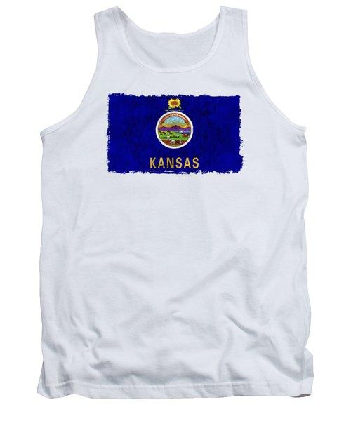 Kansas Flag Tank Top by World Art Prints And Designs