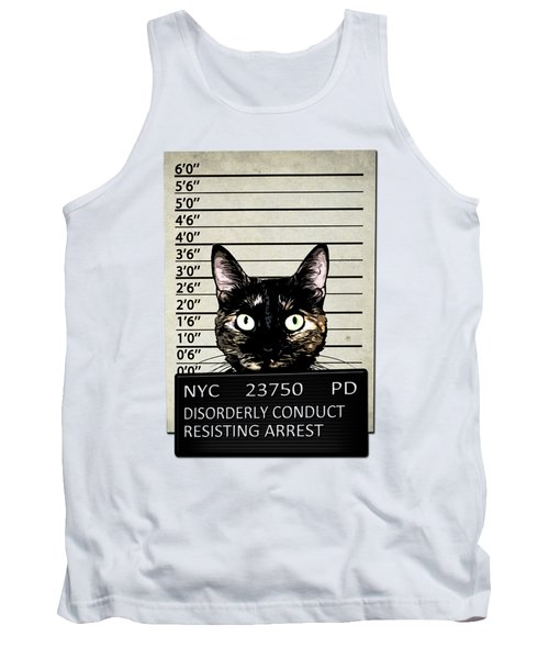Kitty Mugshot Tank Top by Nicklas Gustafsson