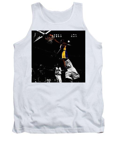 Kobe Bryant On Top Of Dwight Howard Tank Top by Brian Reaves