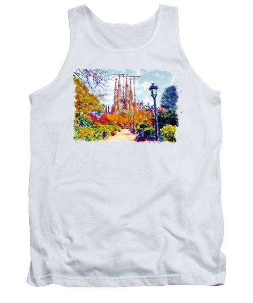 La Sagrada Familia - Park View Tank Top by Marian Voicu
