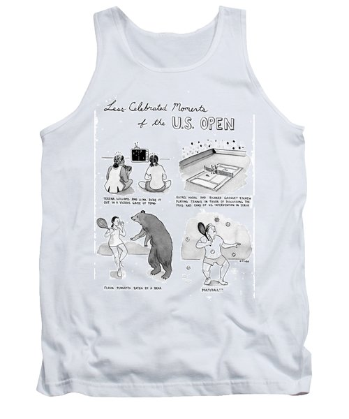 Less Celebrated Moments Of The U.s. Open Tank Top by Emily Flake