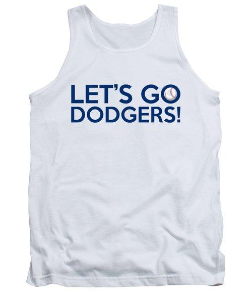 Let's Go Dodgers Tank Top by Florian Rodarte