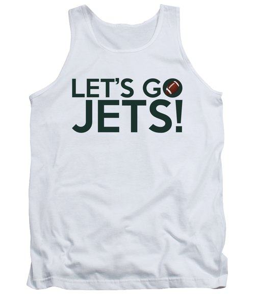Let's Go Jets Tank Top by Florian Rodarte