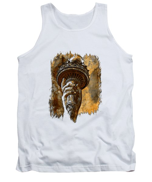Light The Path Earthy 3 Dimensional Tank Top by Di Designs