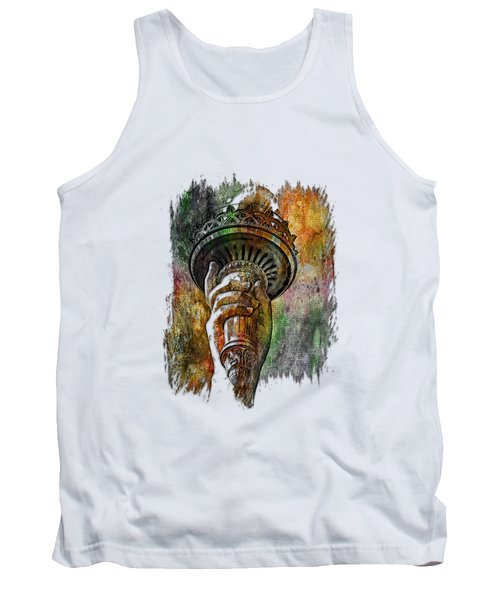 Light The Path Muted Rainbow 3 Dimensional Tank Top by Di Designs