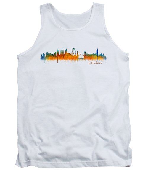 London City Skyline Hq V2 Tank Top by HQ Photo
