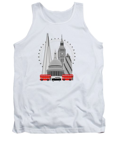 London Scene Tank Top by Imagology Design