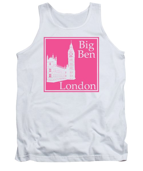 London's Big Ben In French Pink Tank Top by Custom Home Fashions