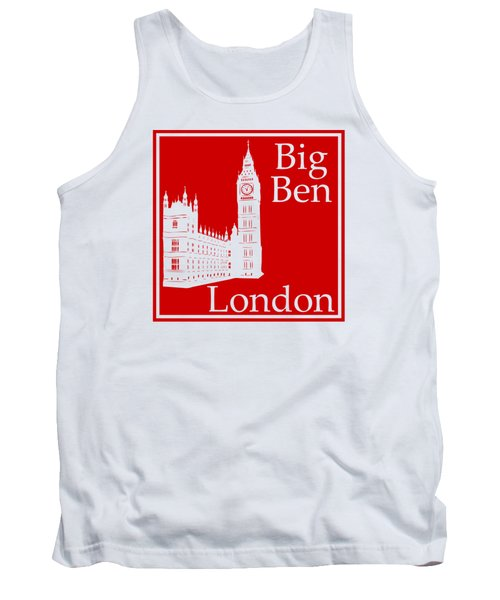 London's Big Ben In Red Tank Top by Custom Home Fashions