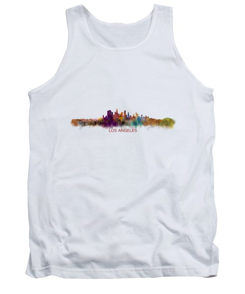 Los Angeles City Skyline Hq V2 Tank Top by HQ Photo