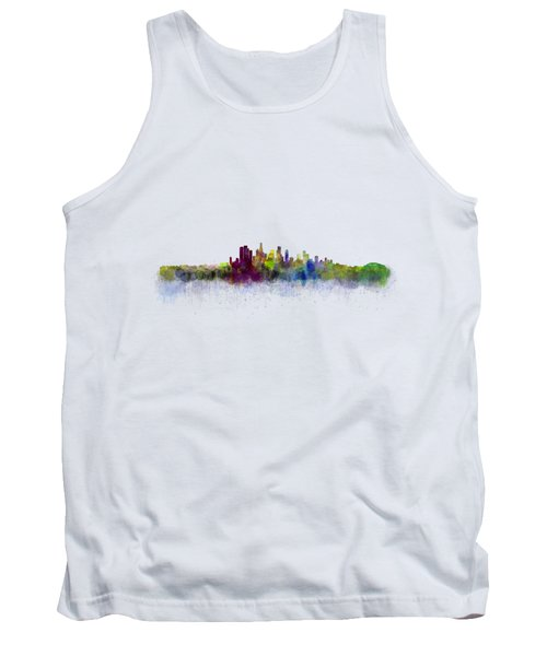 Los Angeles City Skyline Hq V3 Tank Top by HQ Photo
