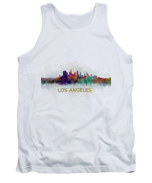 Los Angeles City Skyline Hq V4 Tank Top by HQ Photo